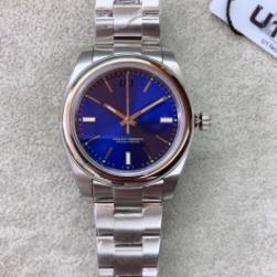 Sport Style 114300BLSO hombre Relojes de metal con tapa fija de bisel Hermoso automaic 39MM esfera azul hombre del reloj luminoso de pulsera envío gratis