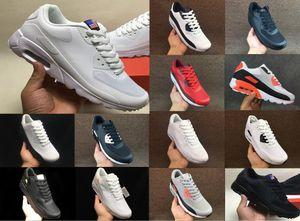 Resp chaussures de course 90 HYP PRM Blanc Noir Chaussures de course Hommes Formateurs Independence Day Zapatillas Etats-Unis Mode Chaussures Chaussures 40-45