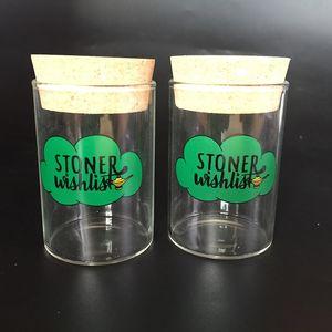 실리카 젤 플러그 드라이 허브 상자 알 약 상자 130ML 유리 항아리 모이스처 프트 기밀 보관 케이스 흡연 담배 파이프 Stash Jar