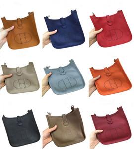 Kadın Debriyaj Çantalar Klasik Evelyn Dana derisi H Togo Gerçek Deri Üst Kalite Tasarımcı çanta Hollow Out Messenger Mini Omuz Çantaları