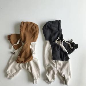 INS 2019 autunno coreano Nuovi ragazzi delle neonate pagliaccetti incappucciati vestiti di moda Clothings LY191228