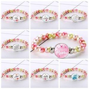 20 Styles Charme Tempo Gem pulseiras estiramento corda bracelete frisado por Mulheres Meninas moda jóias presente do dia das Mães
