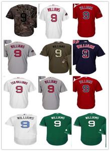 freies Schiff benutzerdefinierte Boston BostonRed Sox 9 Ted Williams T-Shirt, Red Sox Baseball Wear Männer Frauen Jugend Trikots