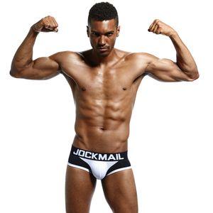 JOCKMAIL العلامة التجارية الرجال الملاكمين القطن الرجال مثير الملابس الداخلية رجل سروال سراويل الرجال السراويل، وشبكة U محدب الحقيبة لمثلي الجنس