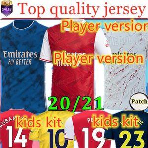 new Fans Player version Arsen soccer jersey 20 21 PEPE NICOLAS CEBALLOS HENRY GUENDOUZI SOKRATIS TIERNEY 2020 2021 football shirt Men + Kids