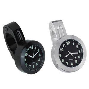 """Universal 7/8"""" Moto accessoires vélo support de guidon Horloge Montre bracelet cadran étanche Costume VTT Tous Moto Argent"""
