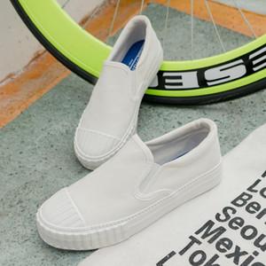 пары тапочек весной и летом дышащие небольшие белые туфли, Корейский случайные спортивные случайные скольжения на обуви, одно поколение