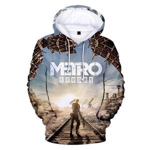 Fashion Cool Metro Exodus popular Hoodies Sweatshirts Men Women Harajuku Hip Hop Outerwear Hooded Casual Apparel Streetwear