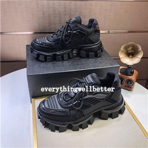 Prada nouveau Designer Sneakers fond est Rouge Chaussures Low Cut Suede spike chaussures pour hommes et Femmes De Luxe Chaussures partie de mariage cristal En Cuir
