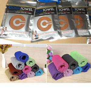 88 * 33cm Ice Cold Towel resfriando esportes de Verão de insolação exercício frio e seco toalha macia Resfriável ST300