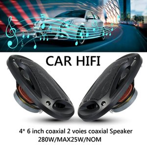 2pcs 4x6 Inch 280w 2 Way Car Speaker And Subwoofer Hifi Speaker Car Rear  Front Door Audio Music Stereo Coxial Speakers System