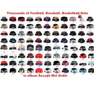 Toptan Beyzbol Spor Takımı Snapback Kap Erkekler Kadınlar için Tüm Futbol Şapkalar Ucuz Ayarlanabilir spor Saçakları Hip-Hop Daha Fazla 10000 + Caps