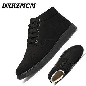 DXKZMCM мужские сапоги обувь Мода зима повседневная ботильоны теплые зимние сапоги меховые обувь кожаная обувь