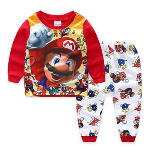 Karikatur-Kind-Kleinkind-Junge Super Mario Nachtwäsche Kleidung Sets Nachtwäsche für Kinder Designerkleidung für Junge Pyjamas Sets Babykleidung 1-7Y