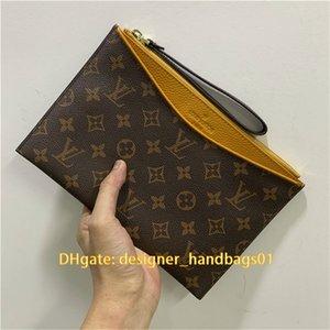 La bolsa bolso de embrague de cuero de lujo bolsos bolsos de diseño bolso del diseñador del embrague Pochette Mini Pochette Bolsa de sobres de lujo Monederos 45682