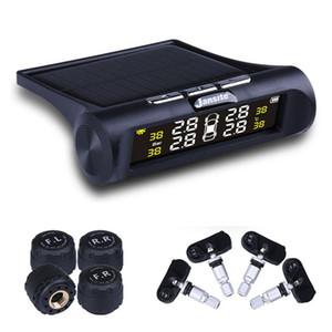 CKS 자동차 TPMS 타이어 압력 모니터링 시스템 태양열 충전 HD 디지털 LCD 디스플레이 4 센서와 자동 알람 시스템 무선