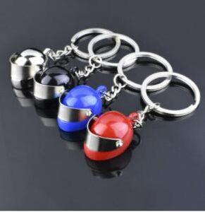 DHL Fashion PUBG metal Keychain key chains 4 Colors Simulation Model Motorcycle Helmet Key Chain Car Keychain gift nf