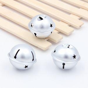 4Pcs Metal Loose Beads Jingle Bells Christmas Decoration Pendants DIY Christmas Bells Crafts Handmade Accessories Size 40*34mm