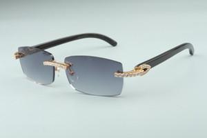 son 3524012-14 elmas güneş gözlüğü, doğal siyah boynuz güneş gözlüğü, küçük kare moda erkek ve kadın sonsuzluk güneş gözlüğü gözlük