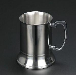 ücretsiz kargo Yüksek kaliteli ayna 550 mi Çift Duvar paslanmaz çelik maşrapa, paslanmaz çelik bira kupa, paslanmaz çelik stein