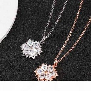 New Fashion Snowflake Pendant Necklace Women Gold Silver Brand Designer Diamond Clavicular Chain Luxury Jewelry sw220 with box