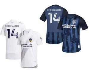 New MLS LA Galaxy Soccer Jersey 2020 Chicharito Pavón Dos Santos HomeAway camisa de futebol Football baratos Jersey Kit de Futebol