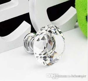 Manopola di vendita calda all'ingrosso del pomello del cassetto dell'armadio della maniglia del Governo di cristallo di forma del diamante di 30mm