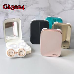 Viagem portátil de plástico 2pair Contact Lens Caso Homens Mulheres contentores Lentes Titular Eye Lashes Caixa de armazenamento Make Up Tools CA3028