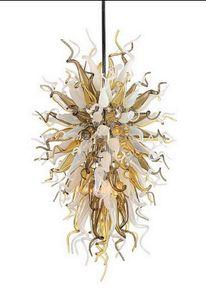 Luxo Bonita Art Decor Luz Pingente Chihuly Estilo Mão Chandelier Modern Blown vidro Murano Hotel Candelabro Iluminação