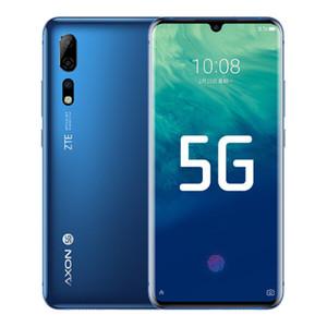 """ZTE origine Axon 10 Pro 5G LTE téléphone portable 12Go RAM 256Go ROM Snapdragon 855 Octa base Android 6.47"""" 48.0MP Face ID d'empreintes digitales Téléphone portable"""