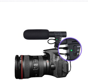 NOUVEAU MIC-05 Entretien professionnel Microphone Caméra hypercardioïde Vidéo Enregistrement PC en plein air Hifi HD Son 3.5mm Jack Microphone Mic