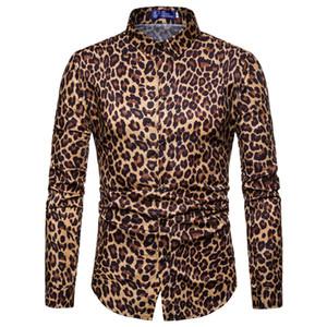 2019 моды мужской ночной клуб леопардовым принтом с длинными рукавами рубашки хорошего качества размер ес партия импортирована одежда