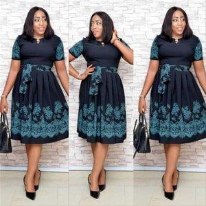 New style African Women clothing Dashiki fashion stretch Digital printing High-grade material Dress Plus Size L -XXL