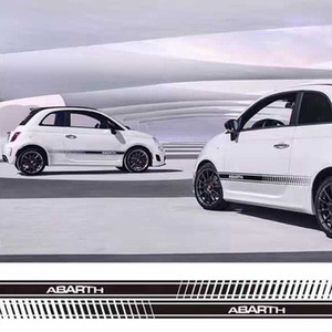 ل Para Alba Sport Aufkleber Fiat Car Side Skirt ملصقات الشارات الجسم
