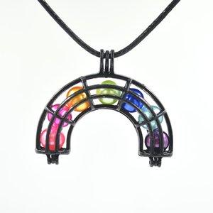 Black Rainbow Pearl Cause Beads Locket Colgante Joyería Making - Para perlas de Oyster, Difusor de aceite esencial, Regalos divertidos