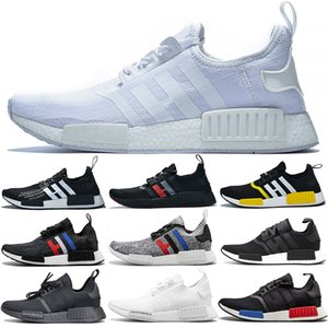 NMD R1 Boost Uomo Donna Running Shoes Designer oliva Oreo Atmos Tri-Color OG classico originale mastermind Giappone Sport Trainer Sneakers