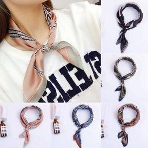 2010 New Women Lady Stylish Silk Satin Scarf Square Bandana Neckerchief Head Neck Wrap Scarves Business Party