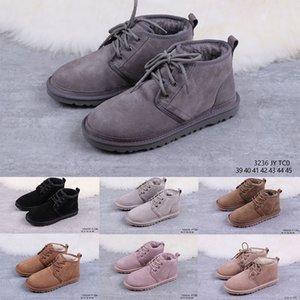 atacado Top Quality Neumel Australian mulheres marca original botas de neve dos homens de pele de carneiro botas de lã de moda pele mens sapatos Neumel (com caixa