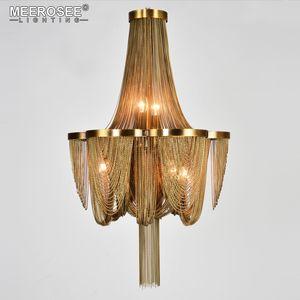 Pendant Light Contemporaneo Catena Bronzo Modern Chandelier Luce italiana nappa alluminio lampada a sospensione per soggiorno Foyer Home Decor Luce