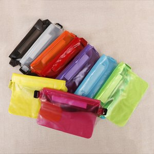 Waterproof Pouch with Waist Strap Transparent Screen Touchable Dry Bag Adjustable Waterproof Bag for Swimming Beach