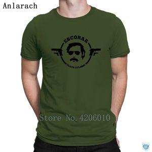 Pablo Escobar Plata o Plomo Tshirts Humorvolle Charakter New Style Kurzarm T-Shirt für Männer Frühling Herbst Tops Crazy Anlarach