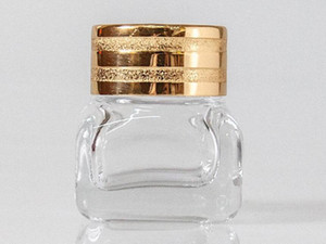 10ml Glass Cream Jar with Gold Lid,Women Cosmetic Eye Cream Container Small Pot Eyeshadow Vial Fast Shipping