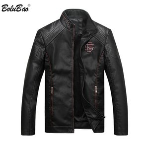 BOLUBAO neuer Winter-Männer Lederjacke Herren Mode-Qualitäts-beiläufige Normallack Bekleidung Leder Jacken Männlich
