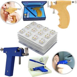 Professionelle No Pain Edelstahl Sicher Sterile Hals-Nasen-Nabel-Piercing Gun Ohr-Piercing Errichtet Ohrring birthstone