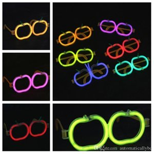 A New Apple Fluorescent Glasses Christmas Glow Stick Wireless Party Luminescent Props Children &#039 ;S Fluorescent Toys Party Favor