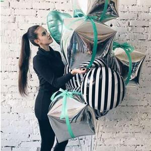 24inch 3D 다이아몬드 큐브 호일 풍선 생일 파티 장식 공기 풍선의 새로운 사진 장식 높은 품질 공기 공 도매