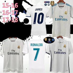 2015 16 2017 2018 camisetas de fútbol retro del Real Madrid # 10 # 9 MODRIC BENZEMA BALE hogar camisetas de fútbol blanco retro uniformes de fútbol modificado para requisitos particulares