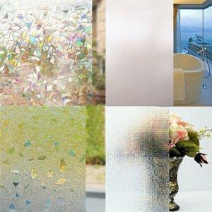 200 cm * 45 cm película de ventana esmerilada sin pegamento autoadhesivo vinilo adhesivo estático privacidad vidrio puerta pegatina baño para decoración del hogar