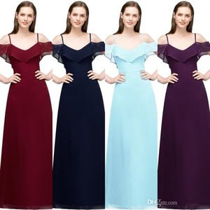 Babyonlinedress In Stock Spaghetti Prom Dresses Long Sexy Backless Zipper Back Chiffon Prom Gown Cheap Evening Party Dresses CPS804