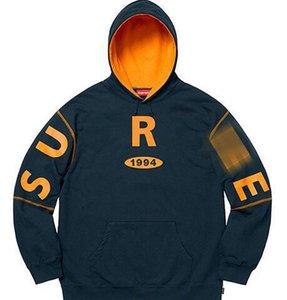 Designer Hoodie box logo logo 1994 02 big logo kylin arm hit color hooded sweater female oversize couple hoodie male su